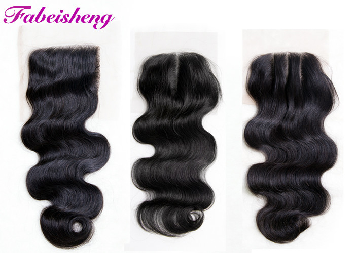 Brazilian Virgin Hair 4x4 Lace Closure Body Wave For Young Girls