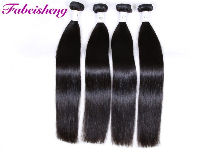 Soft And Silk Unprocessed Virgin Human Hair / Straight Hair Extensions